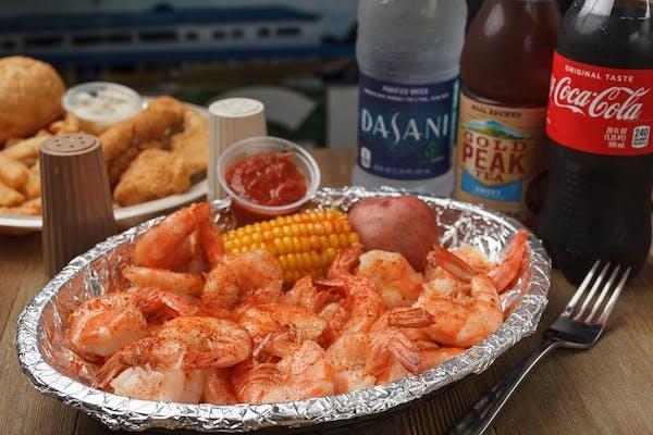 (1 lb.) Boiled Shrimp Dinner Coca-Cola Combo