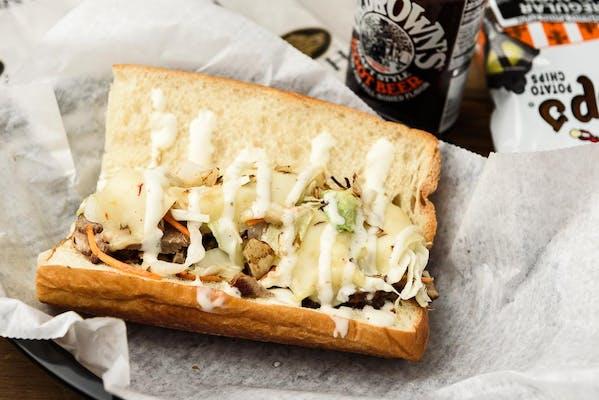 Barbecue Brisket Hoagie Sandwich