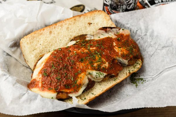 Eggplant Parmigiana Hero Sandwich