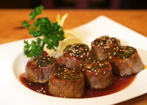Beef Negimaki Appetizer