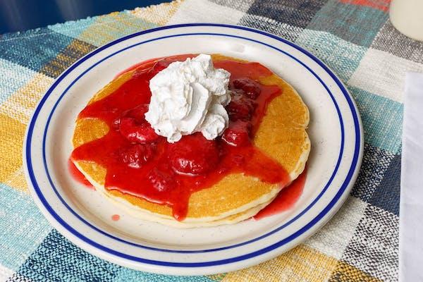 Two Strawberry Pancakes