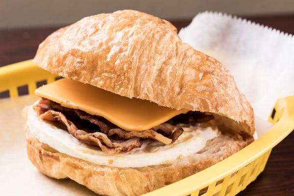 Bacon, Egg & Cheese Croissant Sandwich