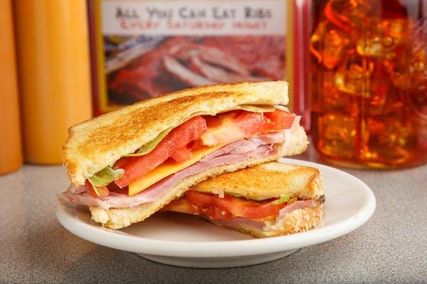 Pit Cooked Ham Sandwich