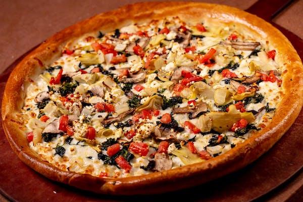 Spinach and/or Artichoke Pizza