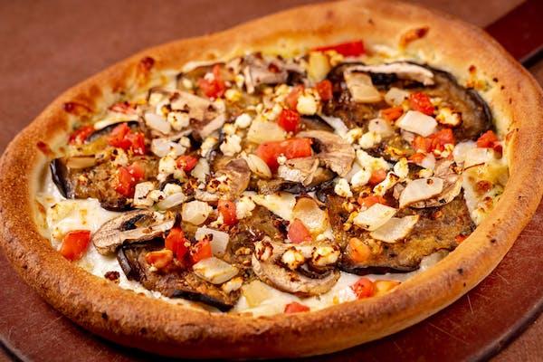 Roasted Eggplant Pizza