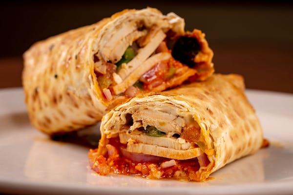 Greek-Roasted Chicken Wrap