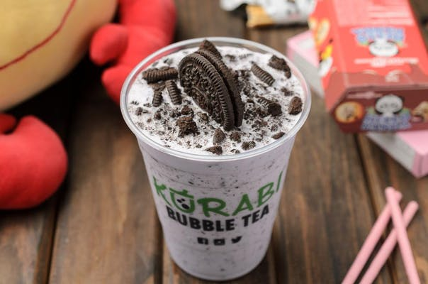 Taro Oreo Milk Tea Smoothie