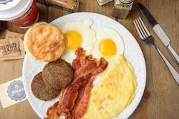 Jeaux's Egg & Meat Platter