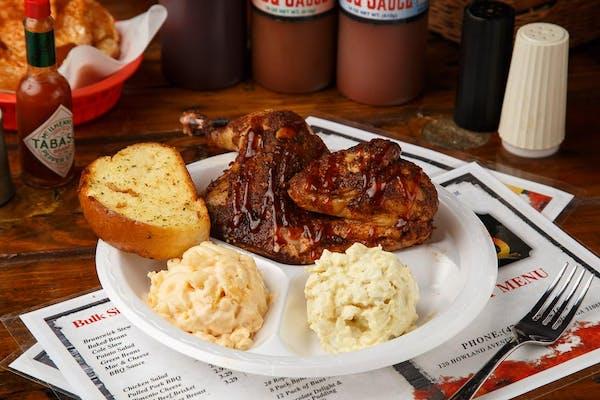 Barbecue Half Chicken Plate