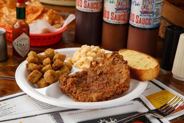 Fried Pork Chop Plate