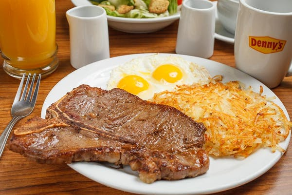 T-Bone Steak & Eggs