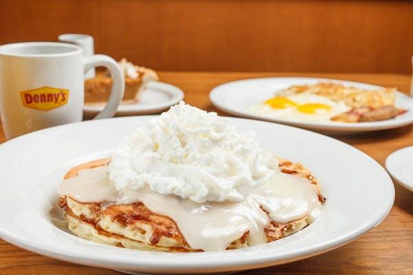 Cinnamon Roll Pancake Breakfast