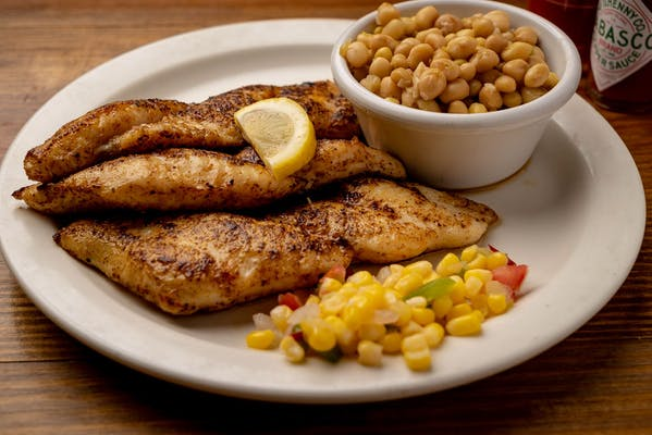 Grilled or Blackened Catfish Fillet Dinner