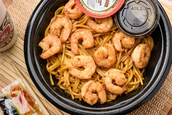 Shrimp Yakisoba Noodle Bowl
