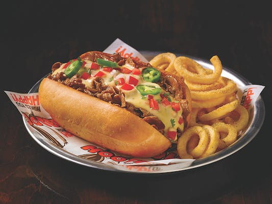 Texas Cheesesteak Sandwich & Curly Fries