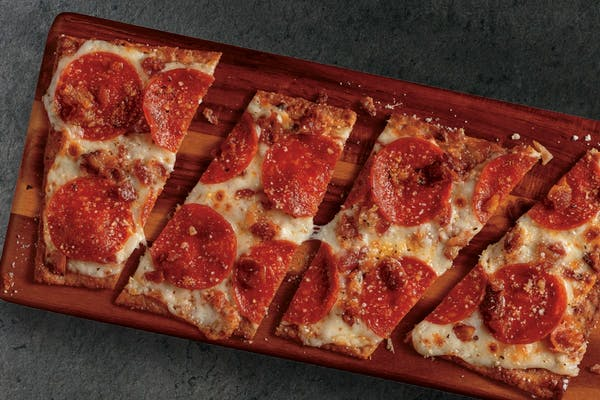 Low Carb Pepperoni & Bacon Flatbread