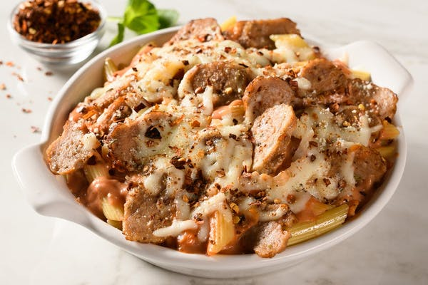 Spicy Baked Ziti with Sausage