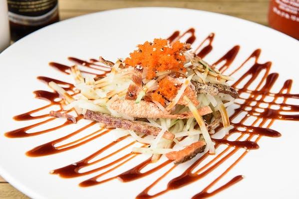 6. Salmon Skin Salad