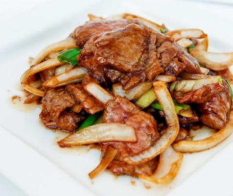 408. Sliced Beef with Scallions