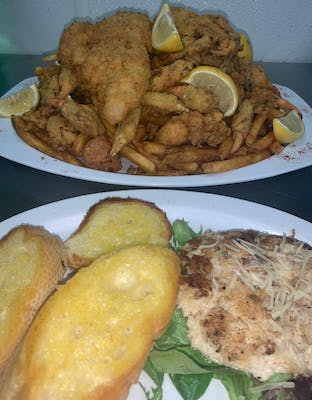 Fried Seafood Platter for Two