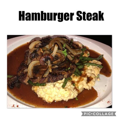 Hamburger Steak & Mashed Potatoes