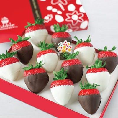 White & Semi-Sweet Chocolate-Dipped Strawberries Box