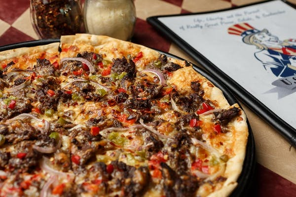 Owen's Philly Cheesesteak Pizza