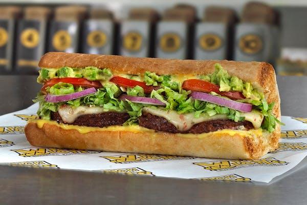 Black Bean Patty Sandwich