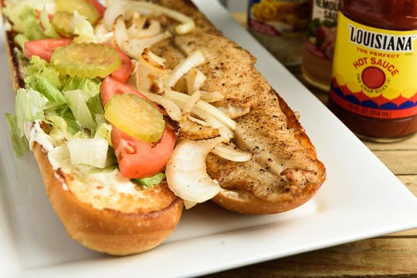Grilled Fish Poboy