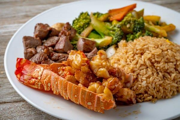 Hibachi Filet Mignon & Lobster