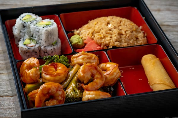 Teriyaki Shrimp Bento
