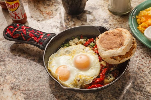 Spinach & Bacon Skillet