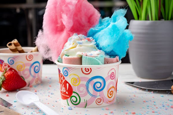 Cotton Candy Madness Rolled Ice Cream