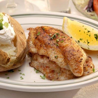 Stuffed Redfish, Tilapia, or Catfish