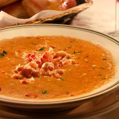 Bowl of Crawfish & Corn Soup