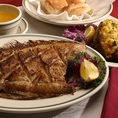 Whole Grilled Flounder
