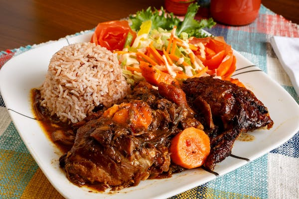 Brown Stew Chicken Plate