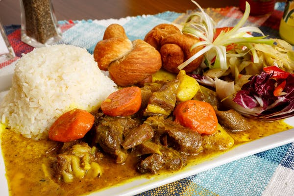 Curry Goat Plate