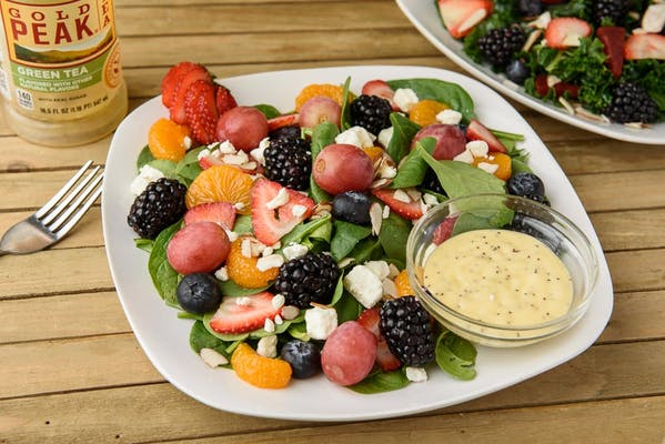 Fruit on Spinach Salad