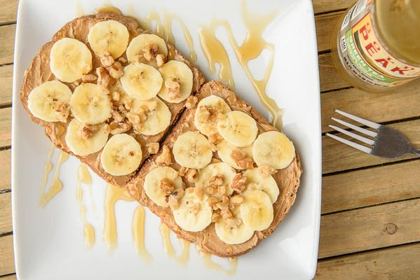 Peanut Butter Banana Walnut Toast