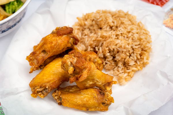 C1. (6) Wings & Hibachi Fried Rice