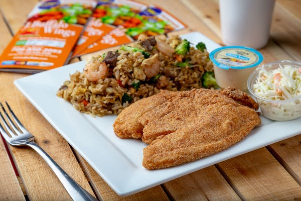 (2 pc.) Fish & Vegetable Fried Rice Combo