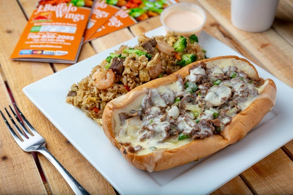 Philly Steak & Vegetable Fried Rice Combo