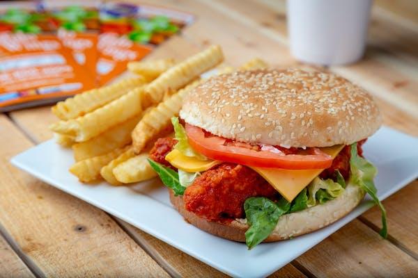 Buffalo Chicken Sandwich & Fries Combo