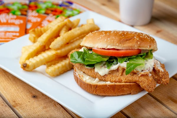 Tilapia Fish Sandwich & Fries Combo
