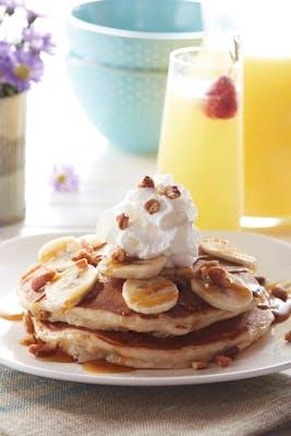 Bananas Foster Pancakes - Vegetarian Option