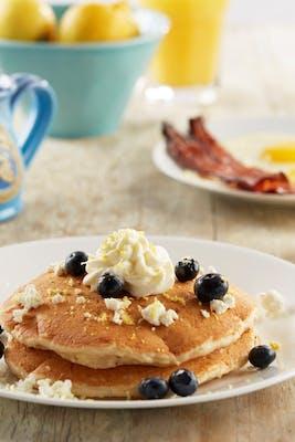 Lemon Blueberry Goat Cheese Pancakes - Vegetarian Option