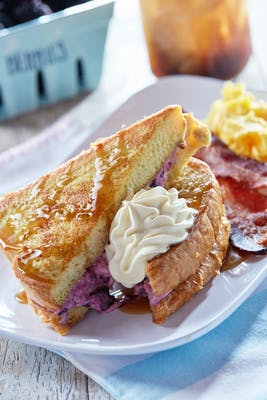 Blackberry Stuffed French Toast - Vegetarian Option