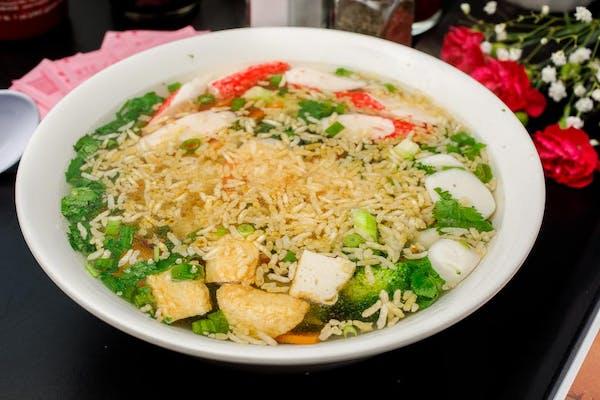 S6. Chicken Sizling Rice Soup