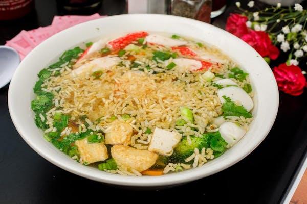 S7. Shrimp Sizzling Rice Soup